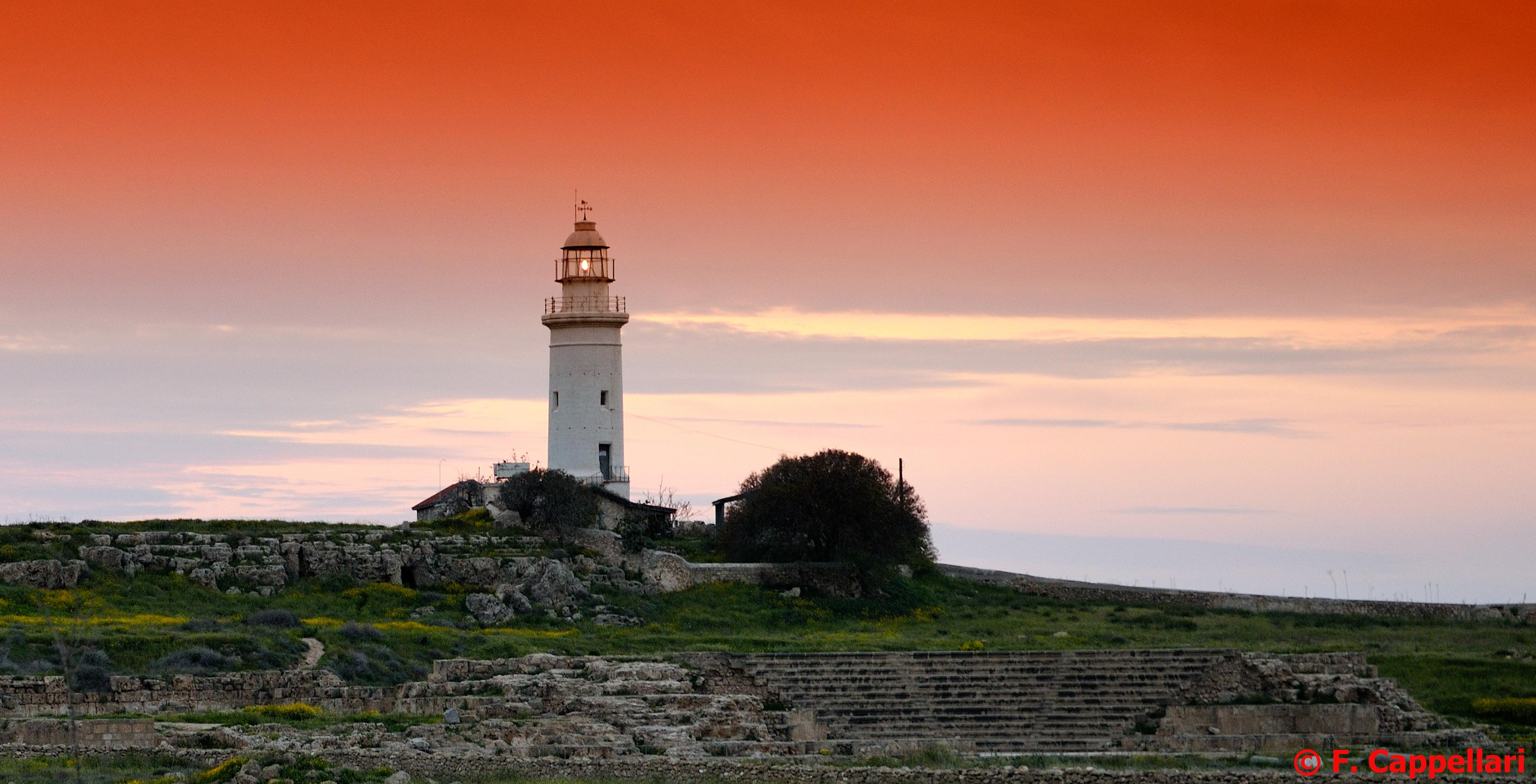 pafos-LighthouseSunset